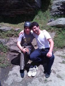 Andres y Esteban Escalando en Suesca